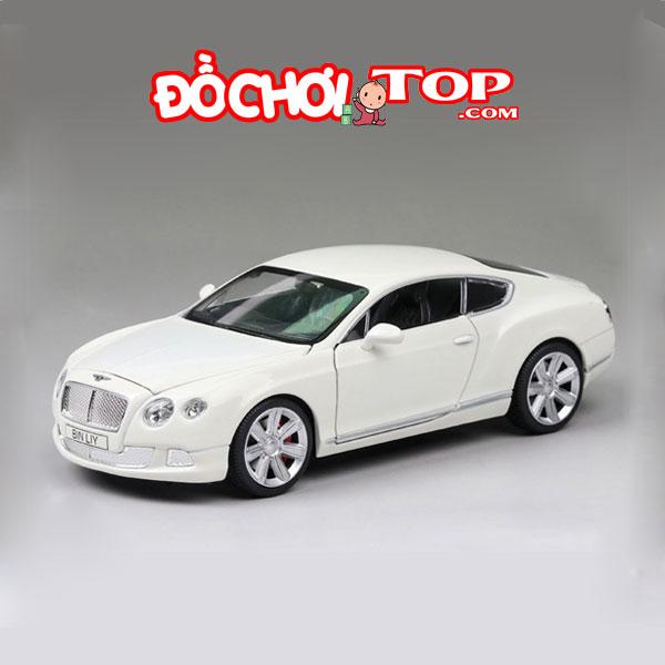 Mô hình xe ô tô Bentley GT W12 tỉ lệ 1/24 hãng Double Horses màu trắng – Chất Liệu Hợp Kim Cao Cấp