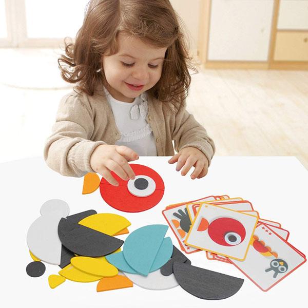Đồ chơi ghép mô hình con vật bằng gỗ cho bé