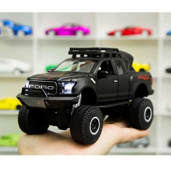 Xe mô hình FORD F150 tỉ lệ 1:32 màu đen – Chất Liệu Hợp Kim Cao Cấp