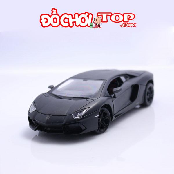 Xe mô hình Lamborghini-Aventador hãng Welly Đen tỉ lệ 1/24 – Chất Liệu Hợp Kim Cao Cấp