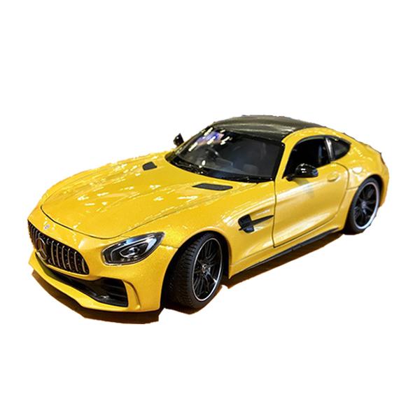 Mô hình xe ô tô Mercedes AMG GT Welly FX tỉ lệ 1:24 màu vàng – Chất Liệu Hợp Kim Cao Cấp