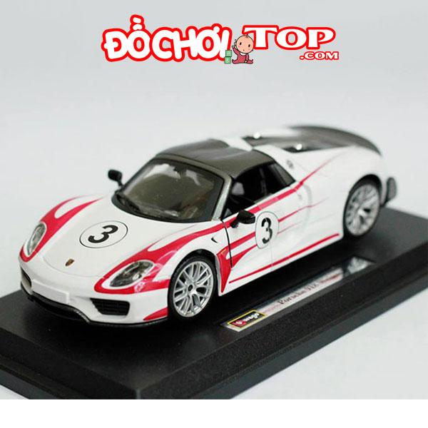 Mô hình xe ô tô Porsche 918 Martini tỉ lệ 1:32 màu trắng – Chất Liệu Hợp Kim Cao Cấp
