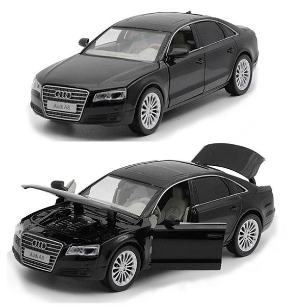 Xe mô hình Audi A8 W12 tỉ lệ 1:32 màu đen – Chất Liệu Hợp Kim Cao Cấp