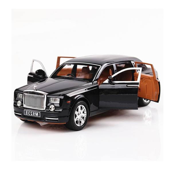Xe mô hình Rolls-Royce Phantom tỉ lệ 1:24 màu đen – Chất Liệu Hợp Kim Cao Cấp