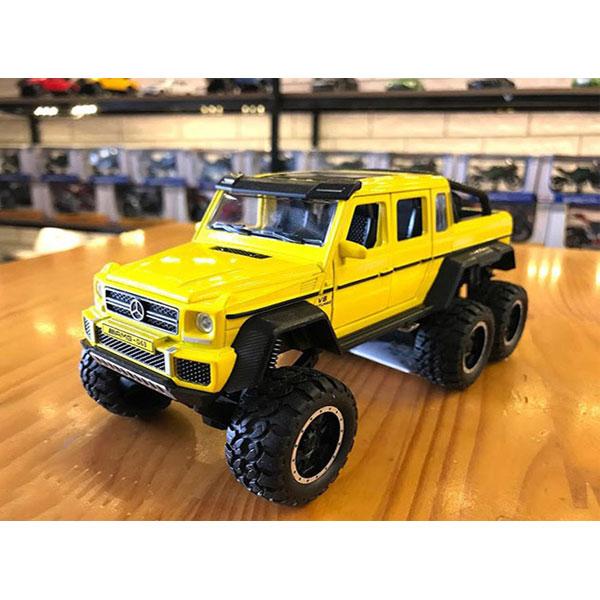 Xe mô hình Mercedes-Benz G63 màu vàng – Chất Liệu Hợp Kim Cao Cấp