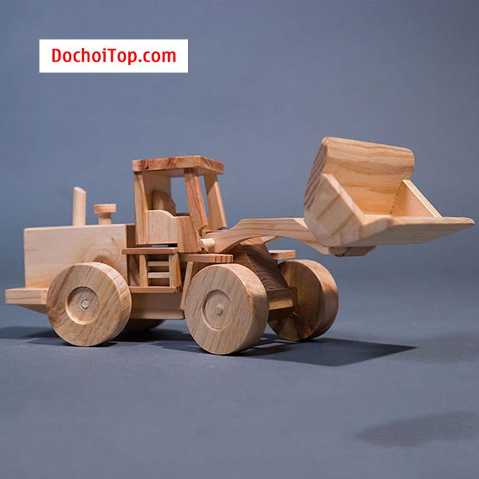 Xe xúc gỗ lắp ráp thông minh G Happy GH017