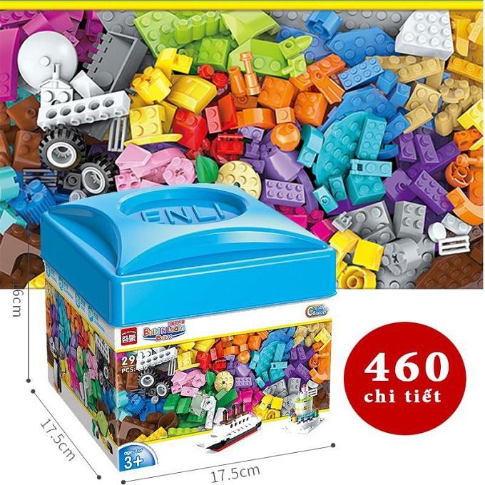 Bộ lắp ghép Lego 460 chi tiết có hướng dẫn