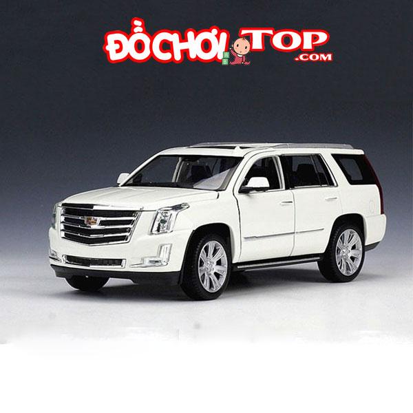 Xe Mô hình Cadillac Escalade hãng Welly FX tỉ lệ 1:24 màu trắng – Chất Liệu Hợp Kim Cao Cấp