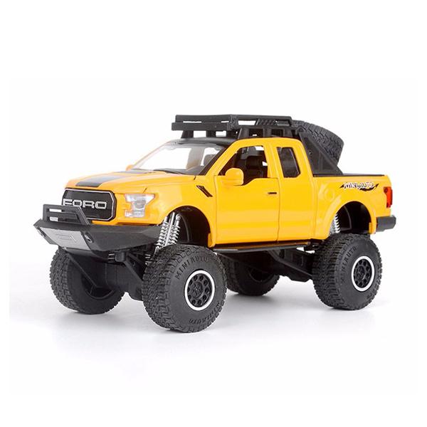 Xe mô hình FORD F150 tỉ lệ 1:32 màu vàng – Chất Liệu Hợp Kim Cao Cấp