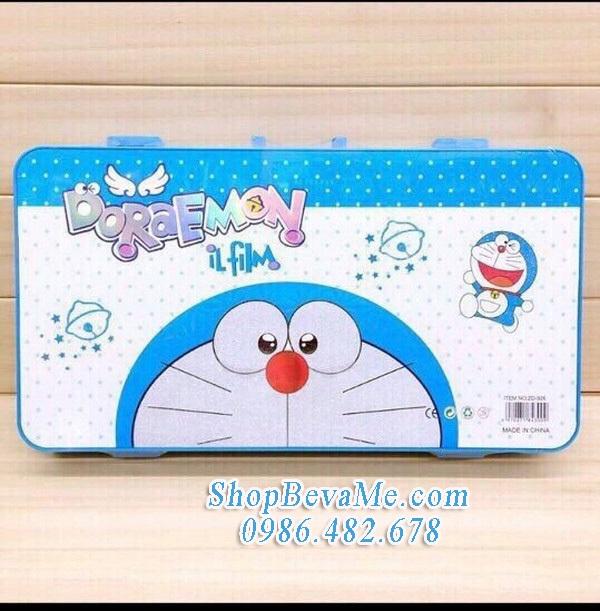 Bộ hộp chì màu hình Doremon dễ thương cho bé