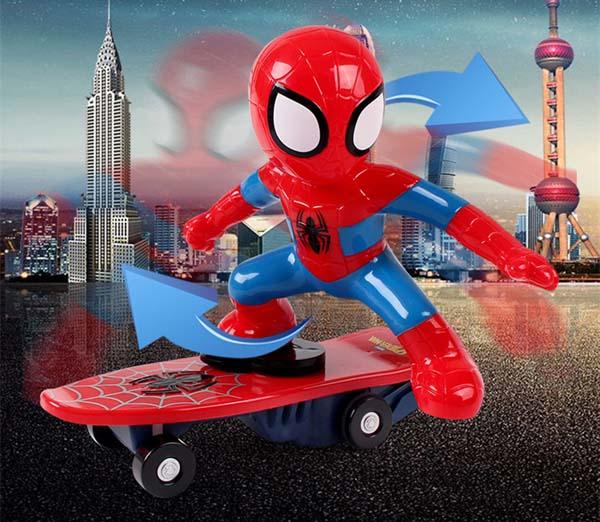 Đồ chơi người nhện trượt ván cho bé