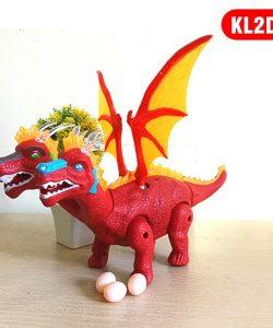 Hộp đồ chơi khủng long rồng có cánh 2 đầu đẻ trứng 2