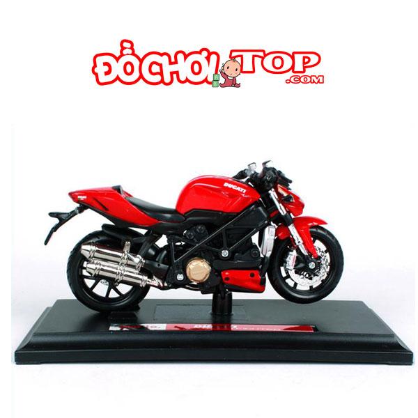 Mô hình Mô tô Ducati StreetFighter tỉ lệ 1:18 hãng Maisto – Chất Liệu Hợp Kim Cao Cấp