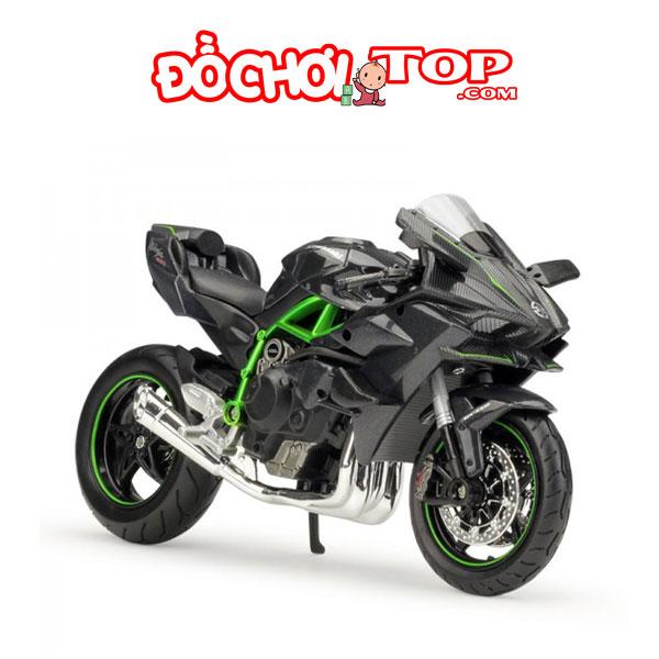 Xe mô hình Kawasaki Ninja H2R tỷ lệ 1/18 Hợp Kim Cao Cấp