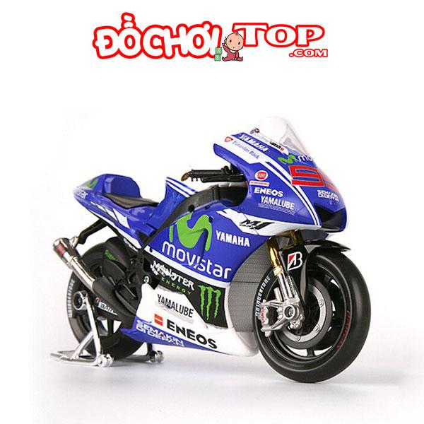 Mô hình Mô tô Yamaha GP Factory Racing tỉ lệ 1:18 hãng Maisto màu xanh – Chất Liệu Hợp Kim Cao Cấp