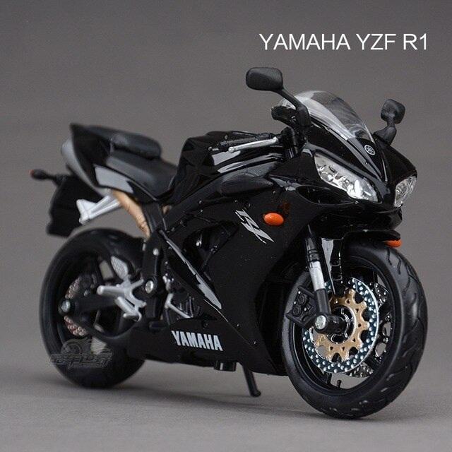 Mô hình Mô tô Yamaha YZF-R1 hãng Maisto màu đen – Chất Liệu Hợp Kim Cao Cấp