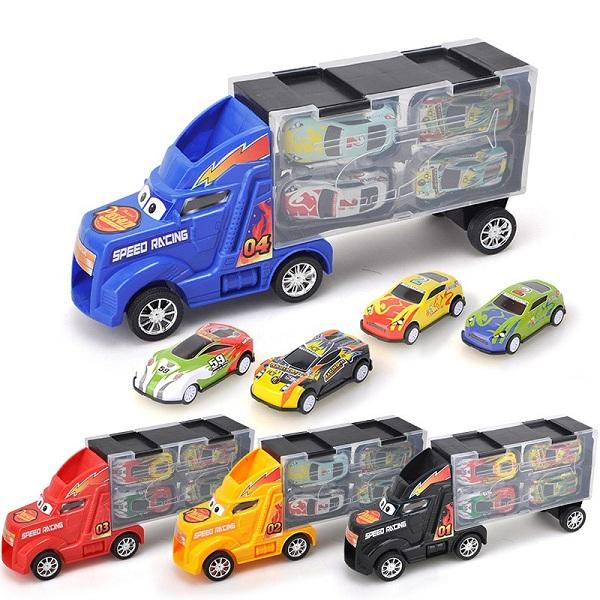 Bộ xe mô hình ô tô MC Queen Gồm 5 món 1 xe tải 4 xe con Cực Ngầu