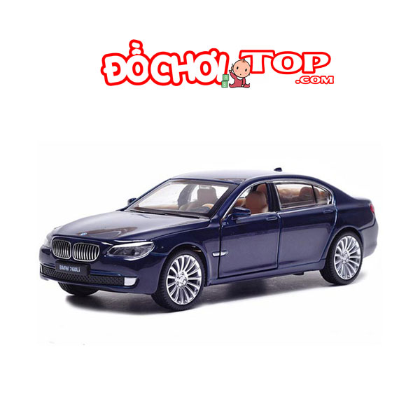Xe mô hình BMW 760Li hãng XLG tỉ lệ 1:24 màu xanh – Hợp Kim Cao Cấp