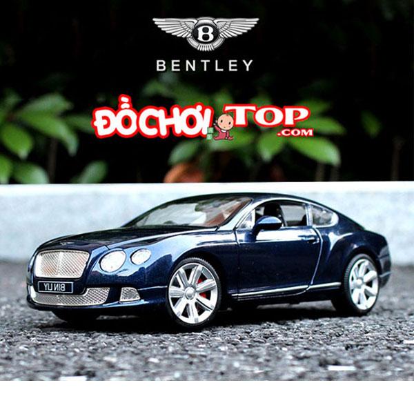 Xe mô hình Bentley GT W12 tỉ lệ 1/24 hãng Double Horses màu xanh đen – Chất Liệu Hợp Kim Cao Cấp