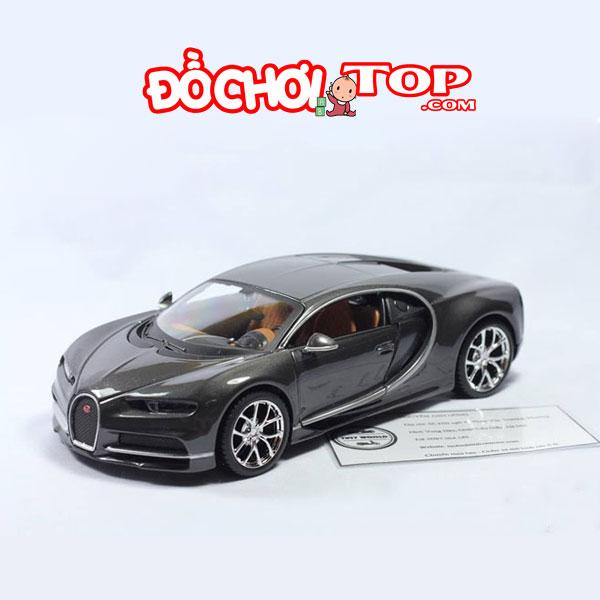 Xe mô hình Bugatti Chiron Maisto tỉ lệ 1:24 màu đen – Hợp Kim Cao Cấp