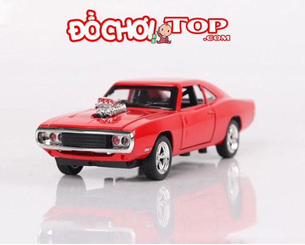 Xe mô hình Dodge Fast & Furious 7 màu đỏ Chất Liệu Hợp Kim Cao Cấp