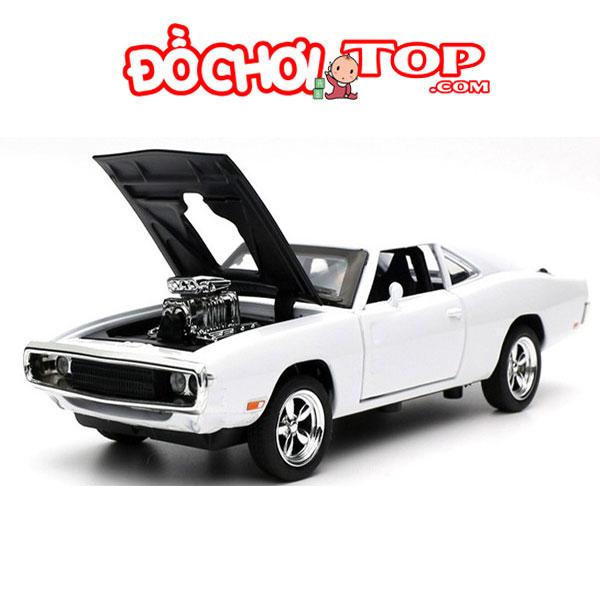 Xe mô hình Dodge Fast & Furious 7 màu trắng Chất Liệu Hợp Kim Cao Cấp
