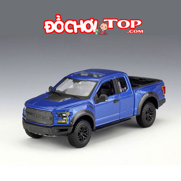 Xe mô hình ô tô Ford Ranger F150 tỉ lệ 1:32 màu xanh – Hợp Kim Cao Cấp
