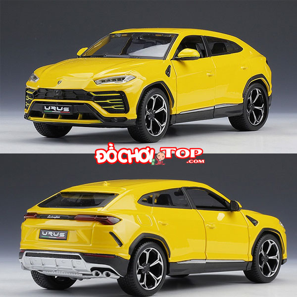 Xe mô hình ô tô Lambor Urus – SUV tỉ lệ 1:24 hãng Maisto màu vàng – Hợp Kim Cao Cấp