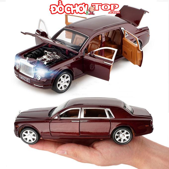 Xe mô hình Rolls-Royce Cullinan tỉ lệ 1:24 màu đỏ Chất Liệu Hợp Kim Cao Cấp