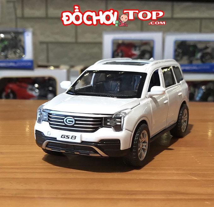 Xe mô hình ô tô Trumpchi GS8 tỉ lệ 1/32 màu trắng – Hợp Kim Cao Cấp