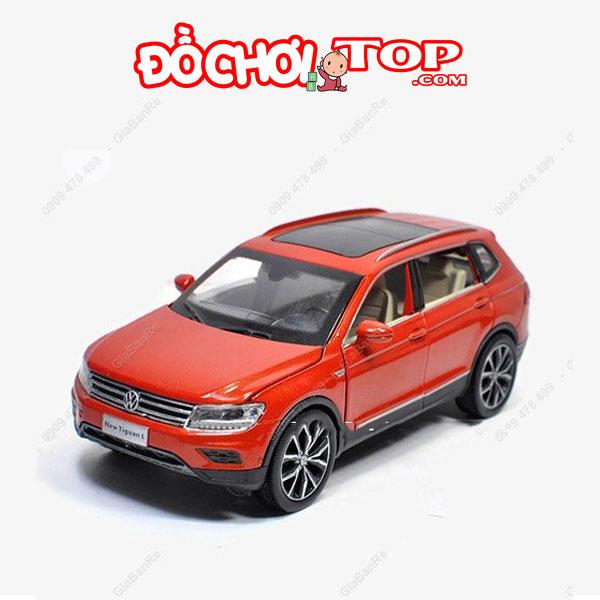 Xe mô hình ô tô Volkswagen tỉ lệ 1/32 màu đỏ cam – Hợp Kim Cao Cấp