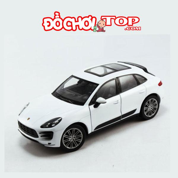 Xe mô hình ô tô Macan Turbo tỉ lệ 1:32 màu trắng – Chất Liệu Hợp Kim Cao Cấp