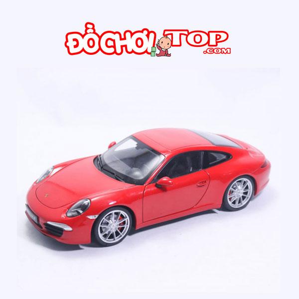 Xe mô hình Porsche 911 Carrera S Hãng Rastar tỉ lệ 1:24 màu đỏ – Hợp Kim Cao Cấp