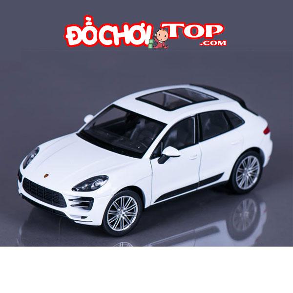 Xe mô hình ô tô Porsche Macan Turbo Hãng Welly FX tỉ lệ 1:24 màu trắng Chất Liệu Hợp Kim Cao Cấp