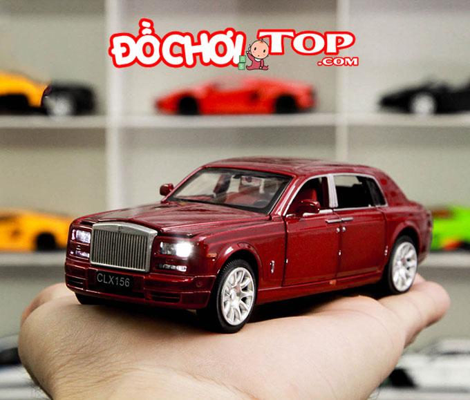 Xe mô hình ô tô Rolls-Royce tỉ lệ 1:32 màu đỏ – Hợp Kim Cao Cấp