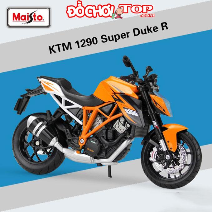 Xe mô tô KTM 1290 Super Duke R hãng Maisto tỉ lệ 1/12 Chất Liệu Hợp Kim Cao Cấp
