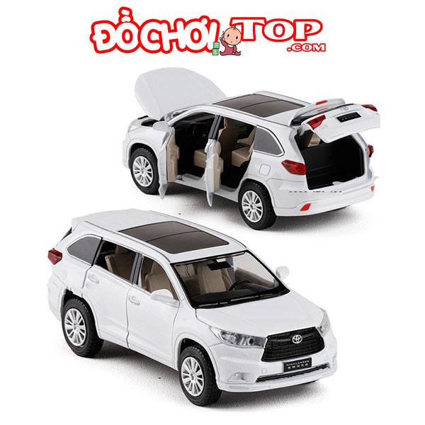 Xe mô hình ô tô Toyota HighLander tỉ lệ 1:32 màu trắng – Hợp Kim Cao Cấp