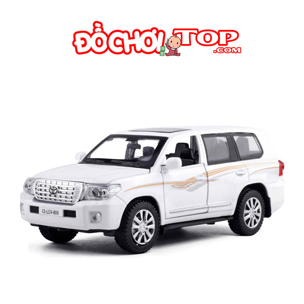 Xe mô hình ô tô Toyota Land Cruiser V8 tỉ lệ 1:32 màu trắng – Hợp Kim Cao Cấp