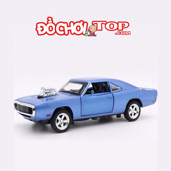 Xe mô hình Dodge Fast & Furious 7 màu xanh Chất Liệu Hợp Kim Cao Cấp