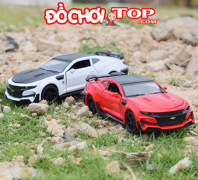 Xe mô hình ô tô Chevrolet Camaro tỉ lệ 1:32 màu đỏ – Hợp Kim Cao Cấp