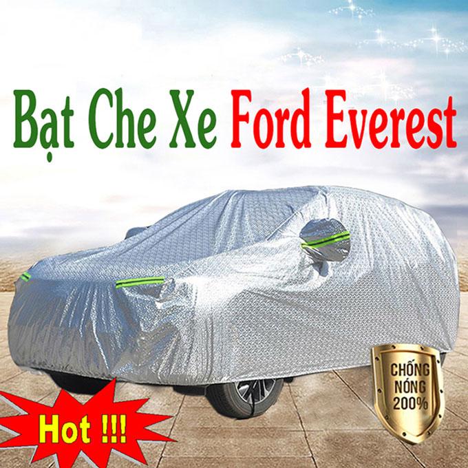 Bạt phủ Ford Everest 3 Lớp Cao Cấp – Bạt Trùm xe Chống Nóng Chống Thấm Tuyệt Đối