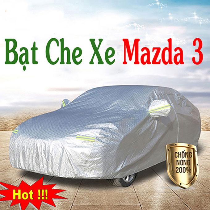 Bạt phủ Mazda 3 chỗ 3 Lớp Cao Cấp – Bạt Trùm xe Chống Nóng Chống Thấm Tuyệt Đối