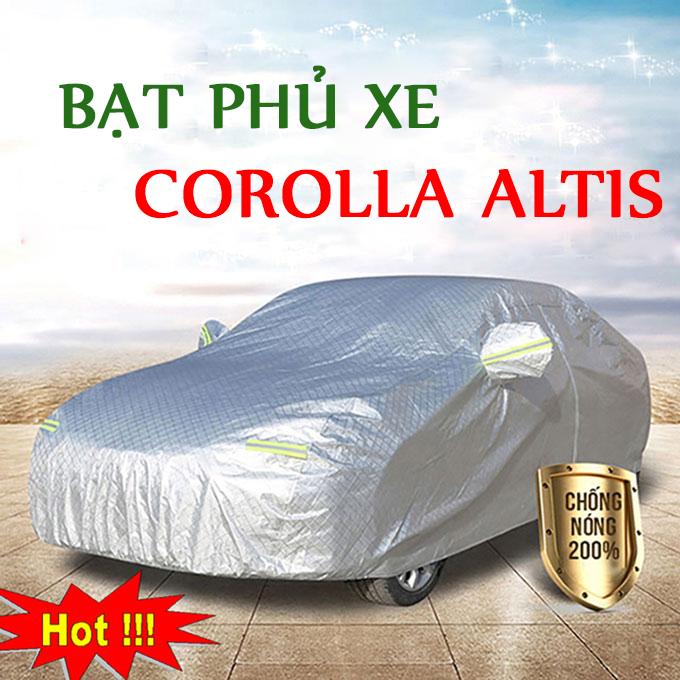 Bạt phủ Corolla Altis 3 Lớp Cao Cấp – Bạt Trùm xe Chống Nóng Chống Thấm Tuyệt Đối
